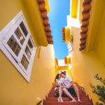 Фотосъемка lovestory на улочках Доминиканы