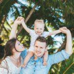 Семейная фотосессия в Доминикане. Мама, Папа и малыш